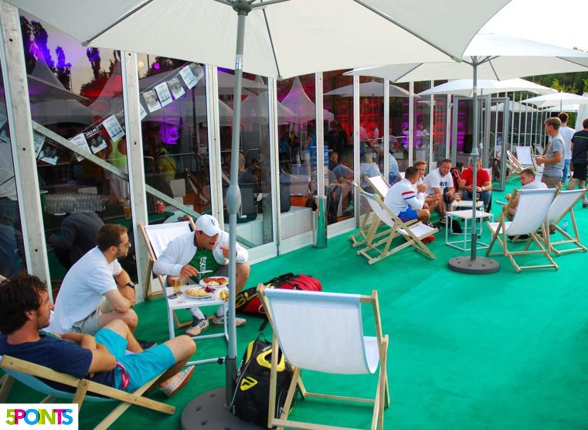 Amatorski Tenis Polski, Players Lounge, catering - organizacja zawodów